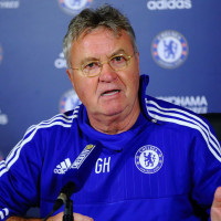 during a press conference at Chelsea Training Ground on December 23, 2015 in Cobham, England.