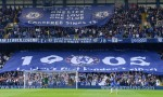 Chelsea fans show their support for Chelsea FC