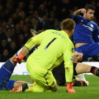 Costa in action against Bournemouth