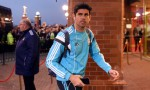 Costa arrives at the Stadium of Light