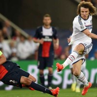 David Luiz in action against PSG