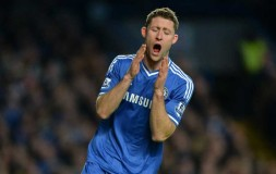 Gary Cahill goes close to scoring against Liverpool
