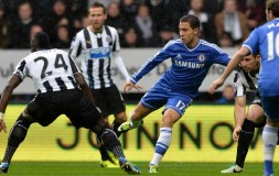 Eden Hazard in action against Newcastle United