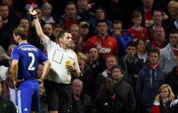 Ivanovic gets a red card