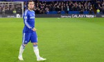 Hazard in action against Liverpool