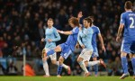 David Luiz in action against Manchester City