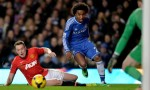 Willian against Manchester United