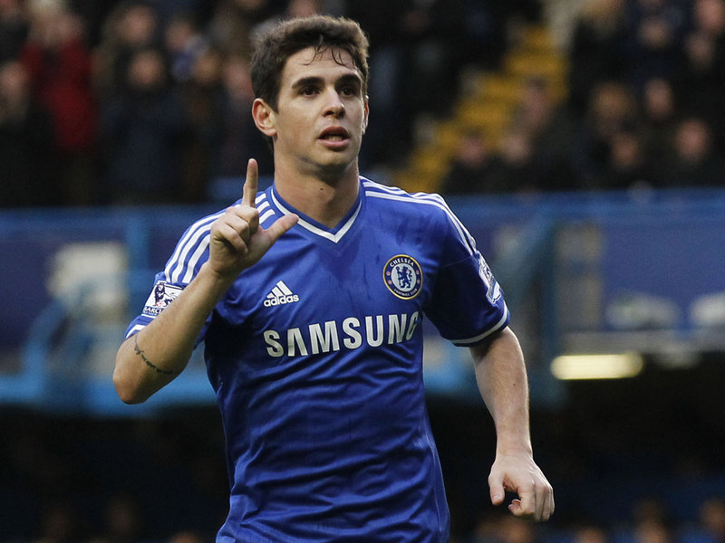 Oscar in action against Stoke City