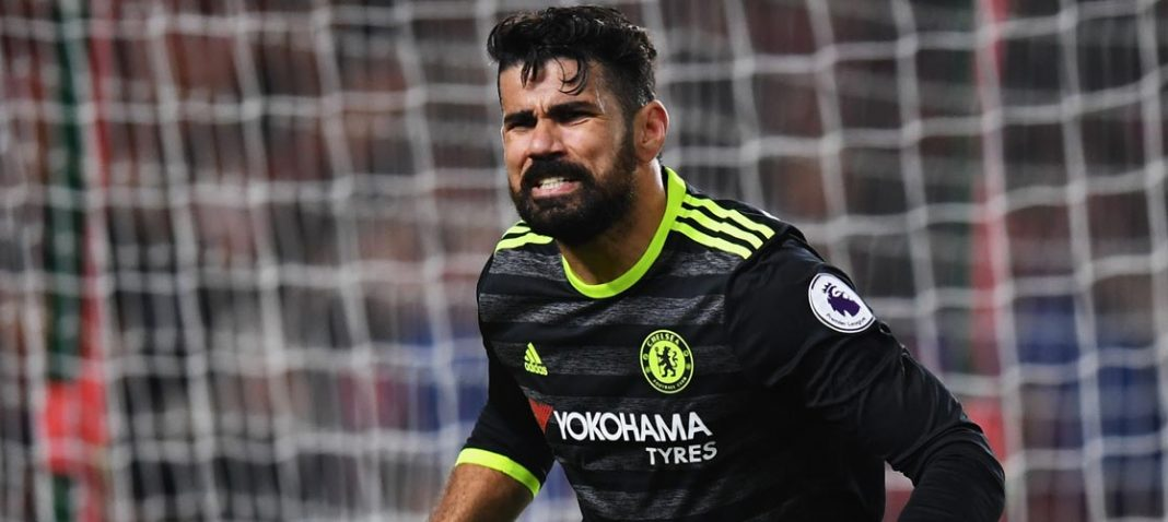 Costa celebrates another goal!