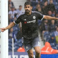 Diego Costa scores against West Bromwich Albion
