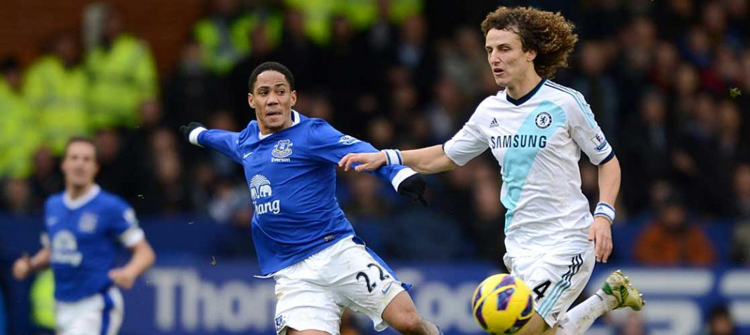 David Luiz against Everton