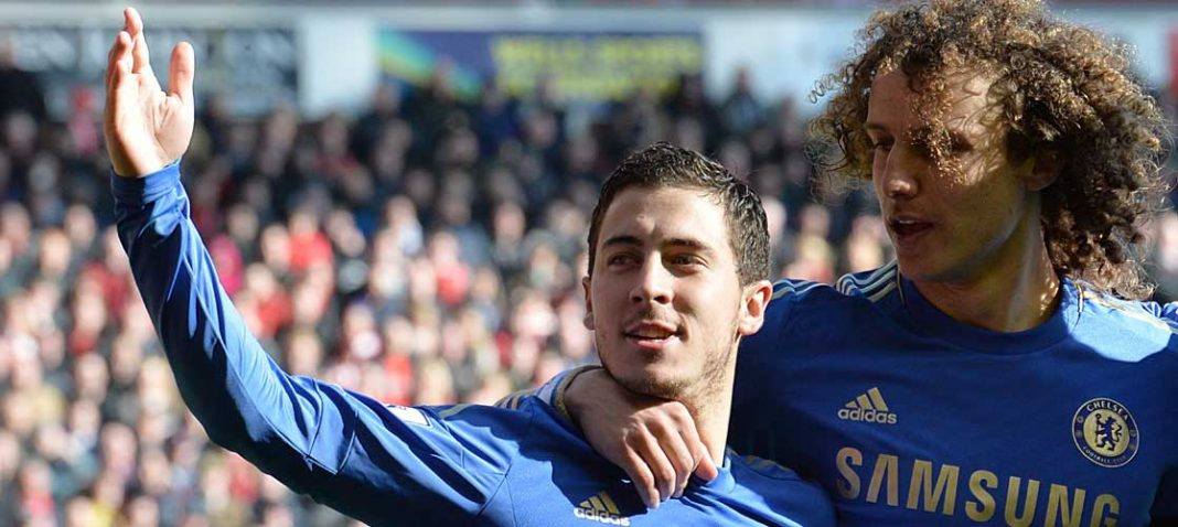 Eden Hazard celebrates against Liverpool