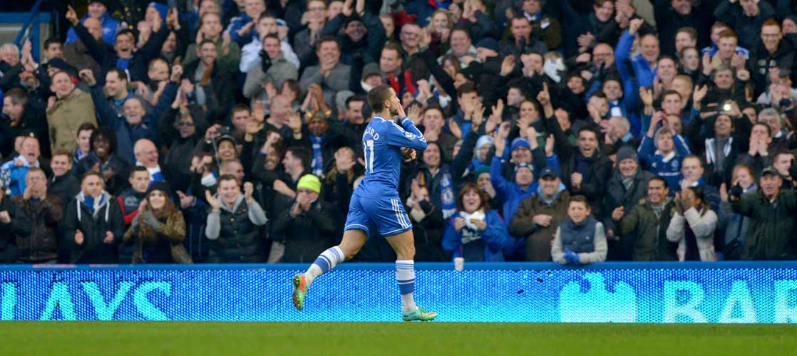 Eden Hazard in action against Swansea City