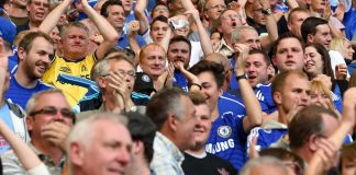Fans at Leicester City game