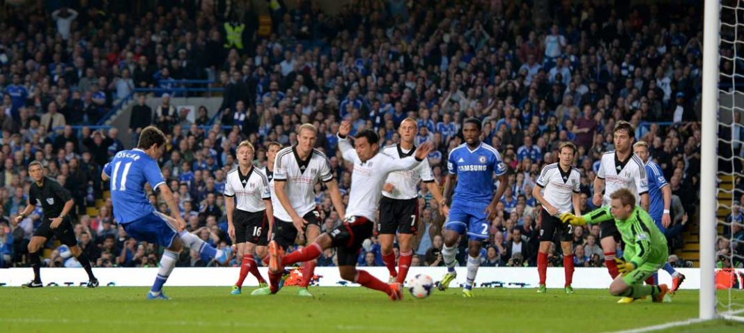 Oscar scores against Fulham