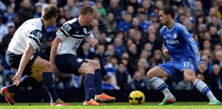 Eden Hazard in action against Everton