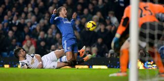 Hazard against Swansea City
