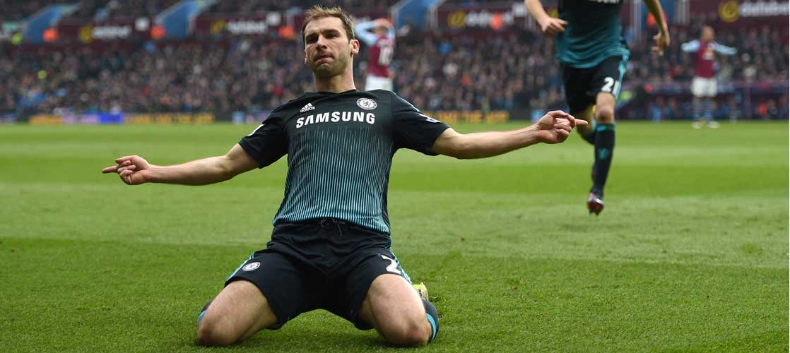 Ivanovic celebrates against Aston Villa