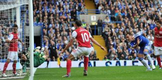 John Terry scores against Arsenal