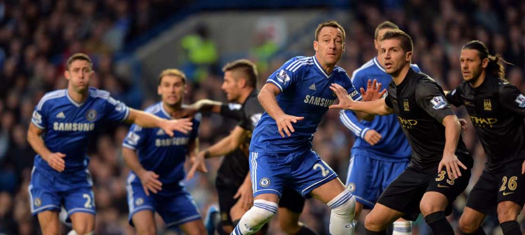 John Terry in action against Manchester City