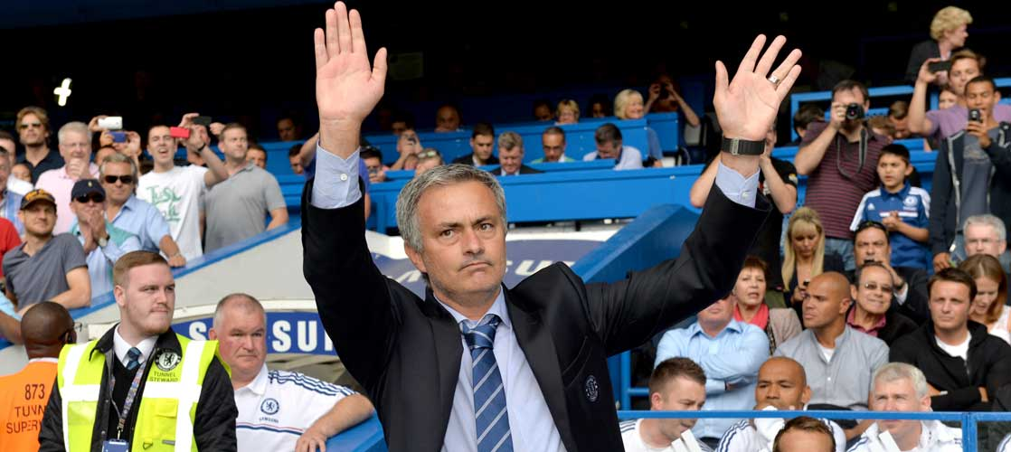 Jose Mourinho against Hull City