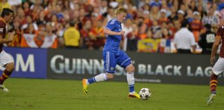 Kevin de Bruyne against Roma