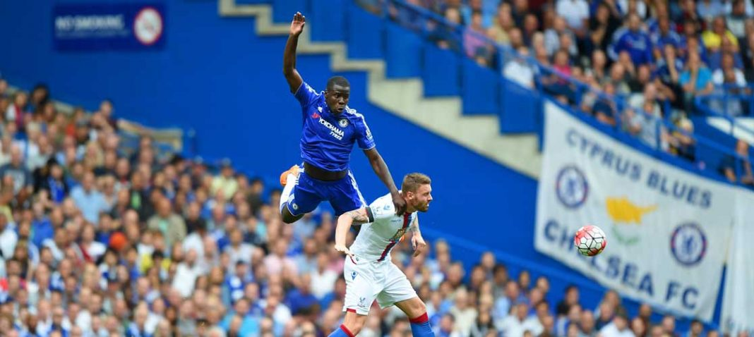 Kurt Zouma in action against Crystal Palace