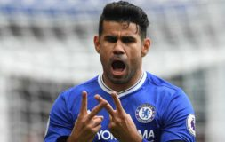 Costa scores against Leicester