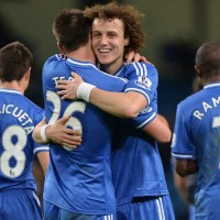 John Terry and David Luiz Celebrate