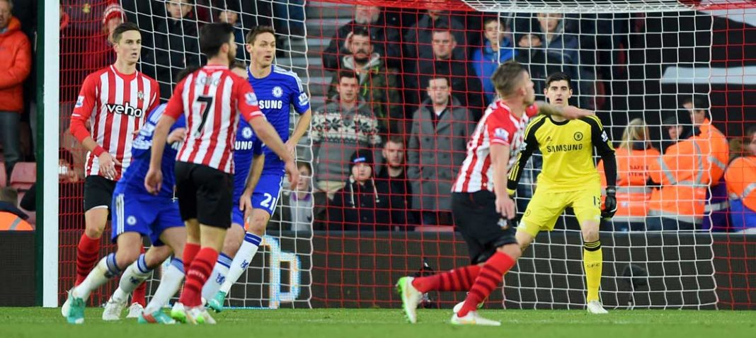 Matic in action against Southampton