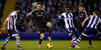 Matic in action against West Bromwich Albion