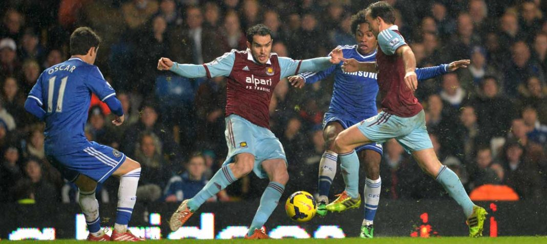 Oscar and Willian in action against West Ham United