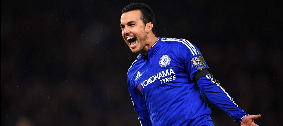 Pedro scores against Newcastle United