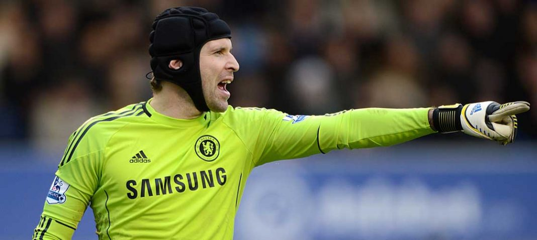 Peter Cech against Everton