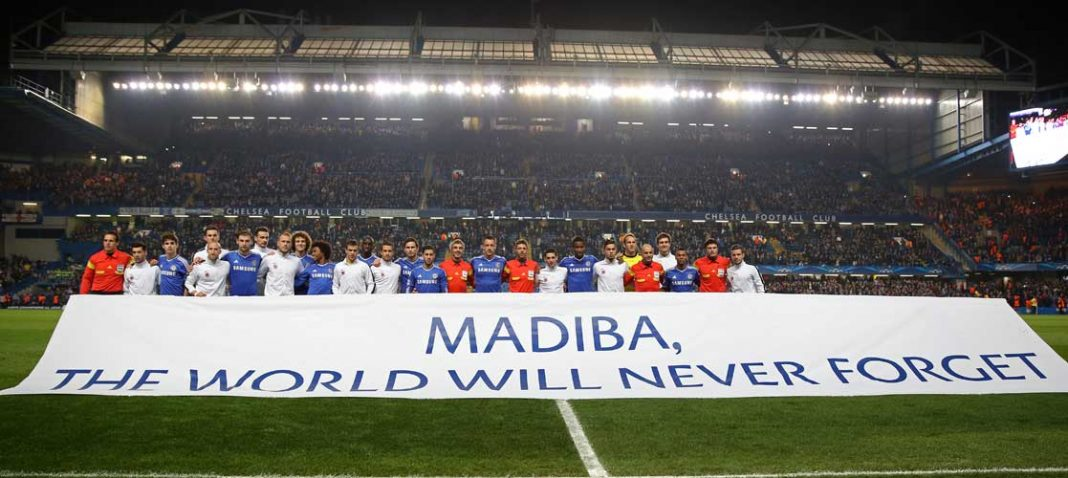 The two teams remember Madiba