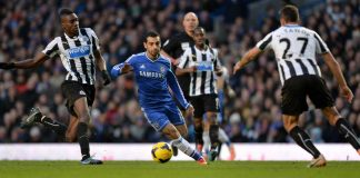 Salah in action against Newcastle United