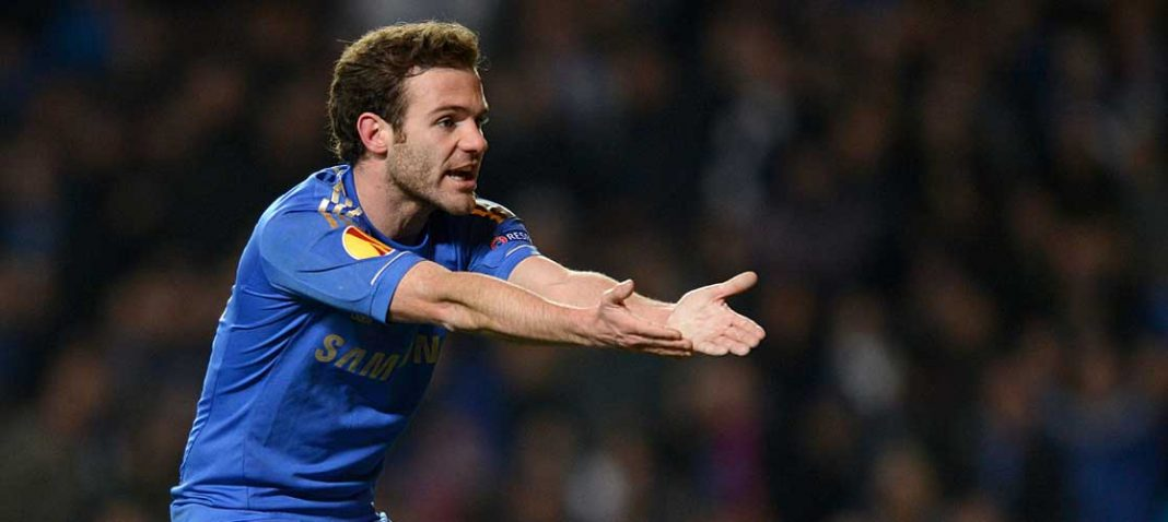Mata in action against Steaua Bucuresti