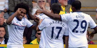 Willian scores against Norwich City