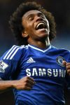 Willian celebrates against Stoke City